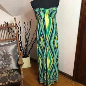 St tropez west strapless maxi dress, sz 12